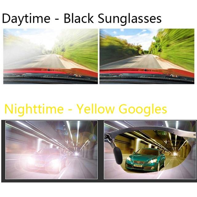 Lunettes de Vision nocturne de voiture lunettes de conduite Anti-éblouissement lunettes de conduite engrenages de Protection lunettes de Protection UV lunettes de soleil 5
