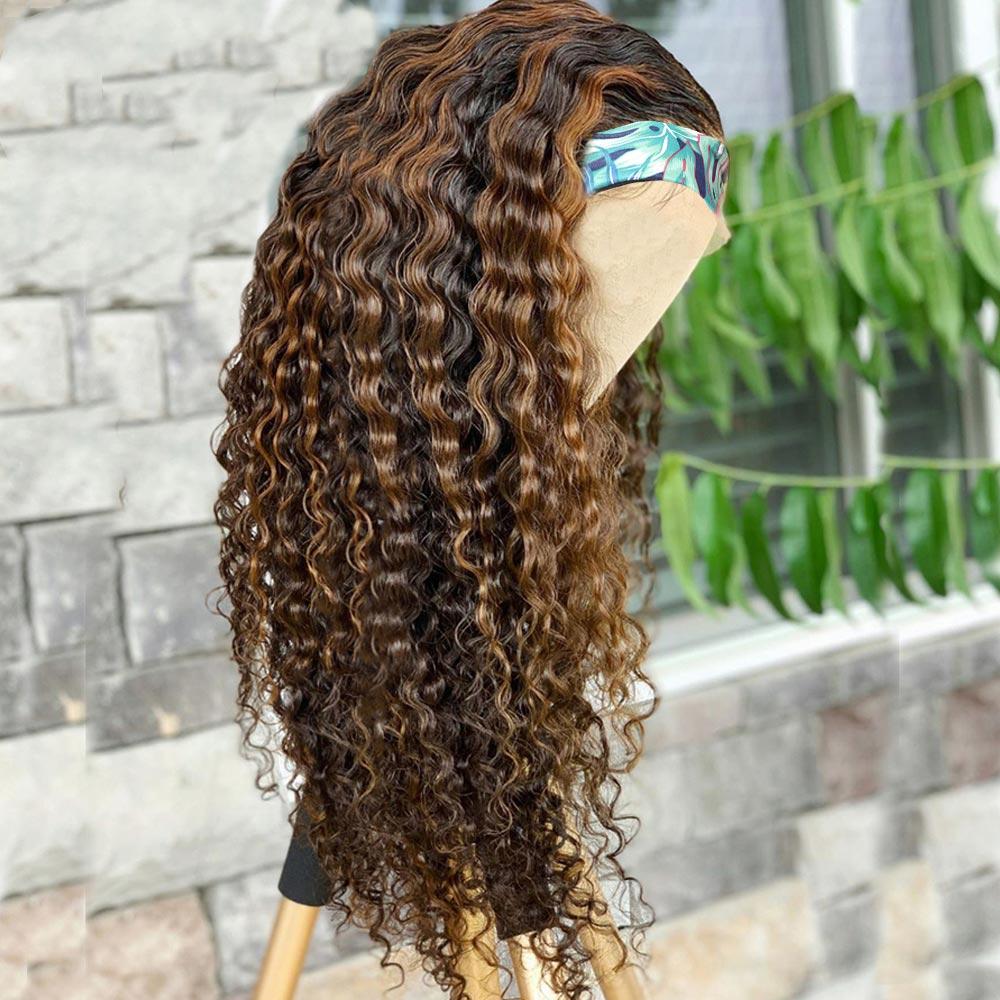 Beaudiva Deep Wave Wig  Highlight P4/27 Color Wig  Natural  Wig  Hair  Headband Wig 4