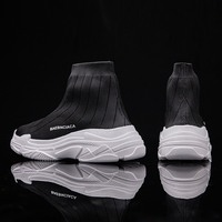 New Women Running Shoes Fashion Sock Sneakers Men Flyknit Mesh Casual Shoes Men Thick Sole Couple Dad Shoes Zapatos De Hombre