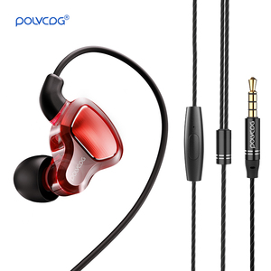 Image 1 - D6 Wired Headphones Sports Running 3.5mm Handsfree with Mic TWS Pro Deep Bass Waterproof Gaming In Ear Earphone Noise Canceling