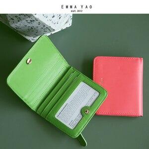 Image 1 - EMMA YAO orijinal deri cüzdan kadın moda tasarımcısı cüzdan kadın