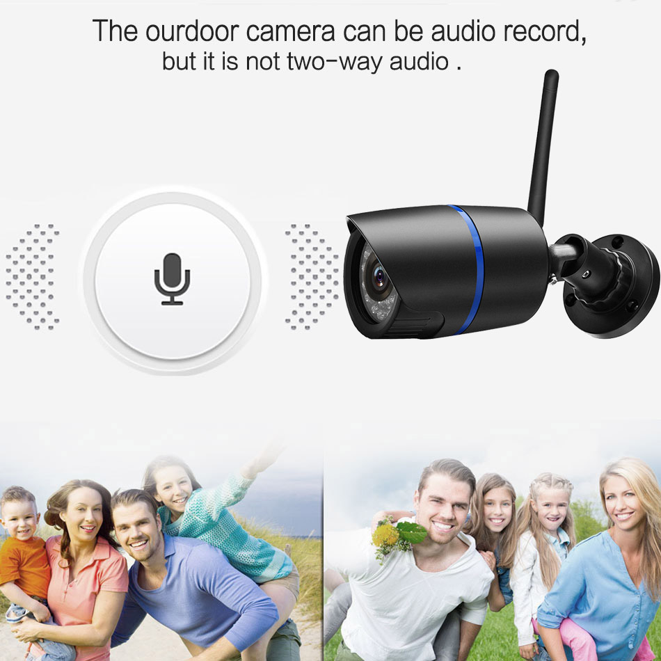 Image 3 - Outdoor wifi Camera 1080P 720P ONVIF Wireless P2P CCTV Bullet IP Camera Waterproof Audio Record Miscro SD Card Slot Yoosee App-in Surveillance Cameras from Security & Protection