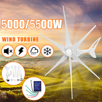 12/24V Wind Turbines Generator 5500W/5000W 3/6 Wind Blades Option Wind Controller Gift Fit for Home Streetlight +Controller