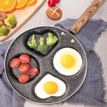 3/4-hole Aluminum Pan For Eggs Ham Pan Cake Maker Frying Pans Creative Non-stick No Oil-smoke Breakfast Grill Pan Cooking Pot stylish kitchen no oil smoke non stick frying pan frying pan soup pot aluminum compound bottom set gift pot