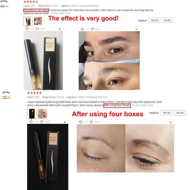 OMY LADY Eyebrow Growth Serum Longer Fuller Thicker Nourishes Eyebrow Enhancer Eyelash Makeup Eyebrows Fuller Longer Cosmetics 2