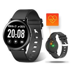 Bluetooth inteligentny zegarek krokomierz ciśnienie krwi tlen krwi tętno Monitor snu KW19 zdrowie zegarki PK Huawei zegarek GT 2