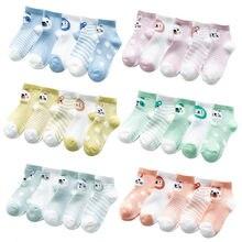 5 par/lote de calcetines de malla finos de verano para bebé, calcetines de algodón para niñas, calcetines de material barato para bebés recién nacidos