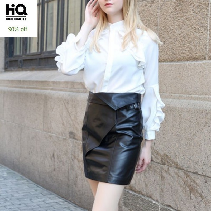 New Arrival Women Short Skirts High Quality Leather Ladies High Waist Skirts Sexy Party Female Mini Skirts Slim Fit Wrap Faldas