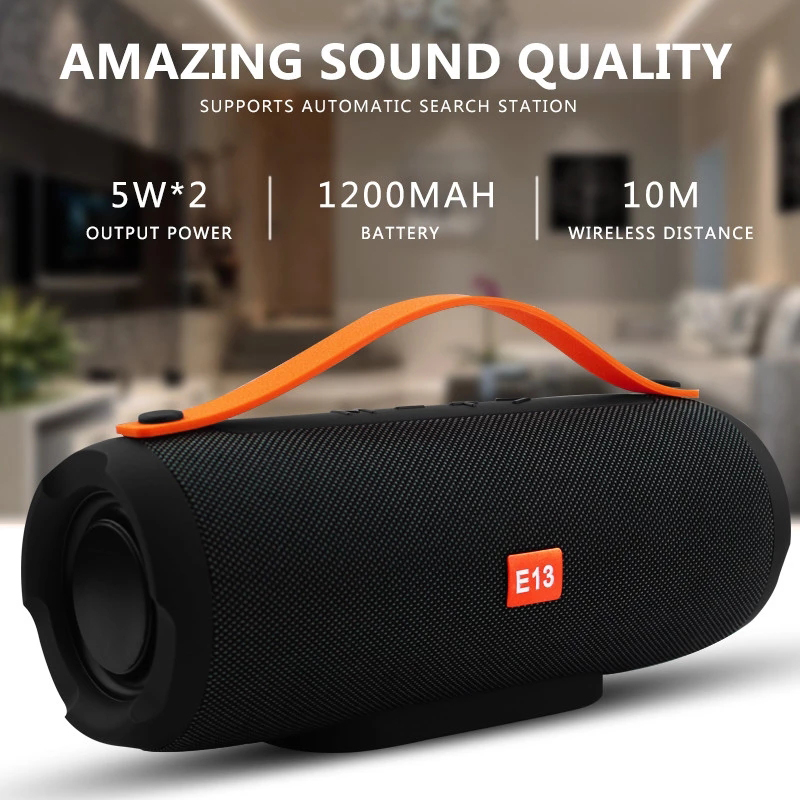 E13 Portable wireless Bluetooth Speaker Stereo big power 20W system TF FM Radio Music Subwoofer Column Speakers for Computer