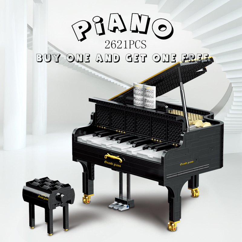 Bricks Building-Blocks 21323-Model-Kit Grand-Piano Gifts MOC Ideas-Series Creative App-Control-Toys
