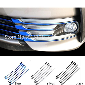 Car Front Fog Light Lamp Stainless Steel Frame Grill Grille Stick Cover Trim 8pcs For Toyota Corolla Altis 2017 2018 2019