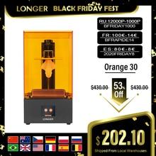 LONGER Orange 30 3D מדפסת דיוק גבוה SLA 3D מדפסת עם 2K LCD מסך מקביל UV LED תאורת 405nm UV שרף מדפסת