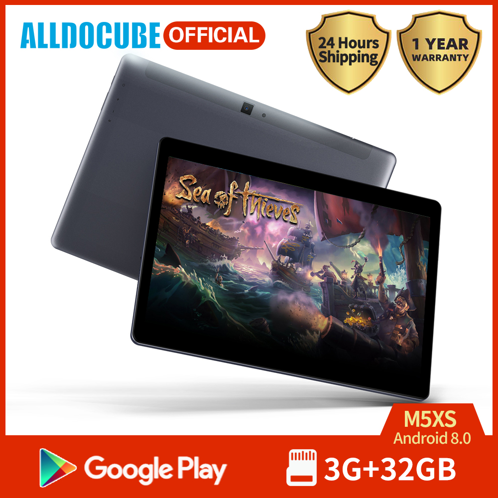 ALLDOCUBE Game Super Tablet M5XS 10.1 Inch IPS Screen MTK X27 Deca Core 3GB RAM 32GB ROM Android 8.0 Phone/Game Tablet Wifi