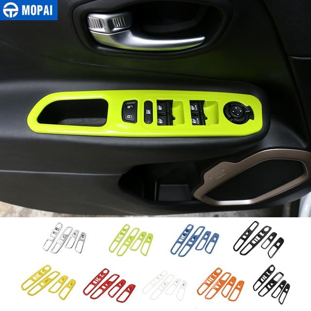 MOPAI ABS Car Interior Finestra Interruttore Ascensore Pulsante Decorazione Adesivi Copertura Per Jeep Renegade 2015 2017 Accessori Auto Styling