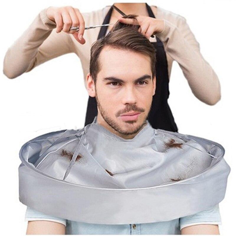 Складная накидка для волос для взрослых, накидка для стрижки волос, плащ-зонтик, Парикмахерская и домашняя Парикмахерская, водонепроницаем...