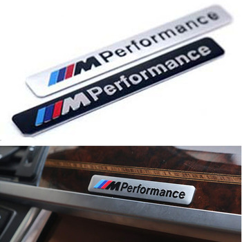 1pcs Metal Labeling M Performance Car Interior Sticker For BMWS M Sticker  X3 X4 X5 X6 X7 e46 e90 f20 e39 f10 Car accessories etie car styling sports mind produced by m performance power sticker
