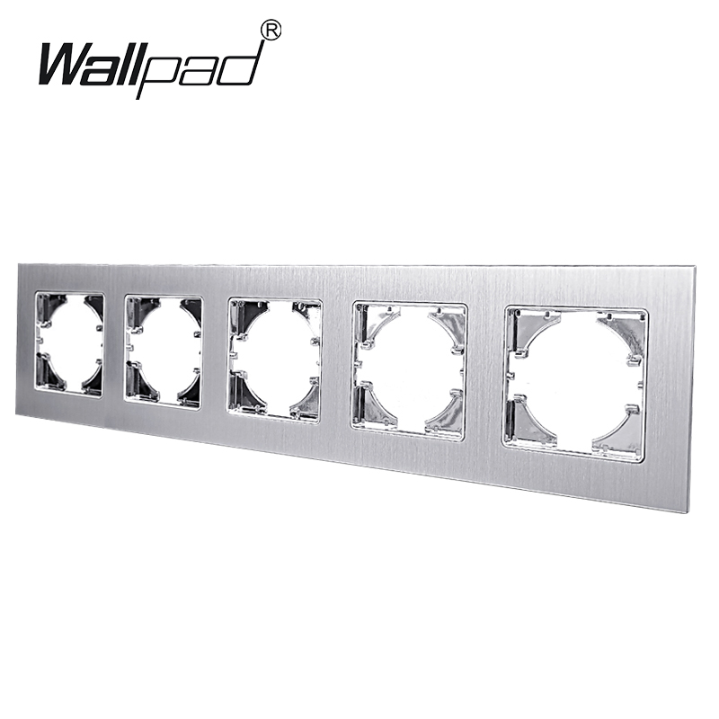 5 Way Metal Frame For Module EU Standard Switch And Socket Aluminum Frame Wallpad L6 Series