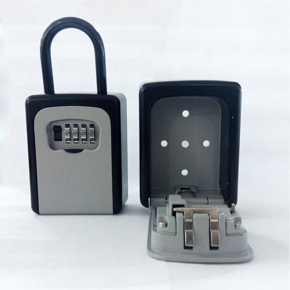 4-Digit Combination Lock Key Safe Storage Box Padlock Security Home Outdoor Supplies VDX99
