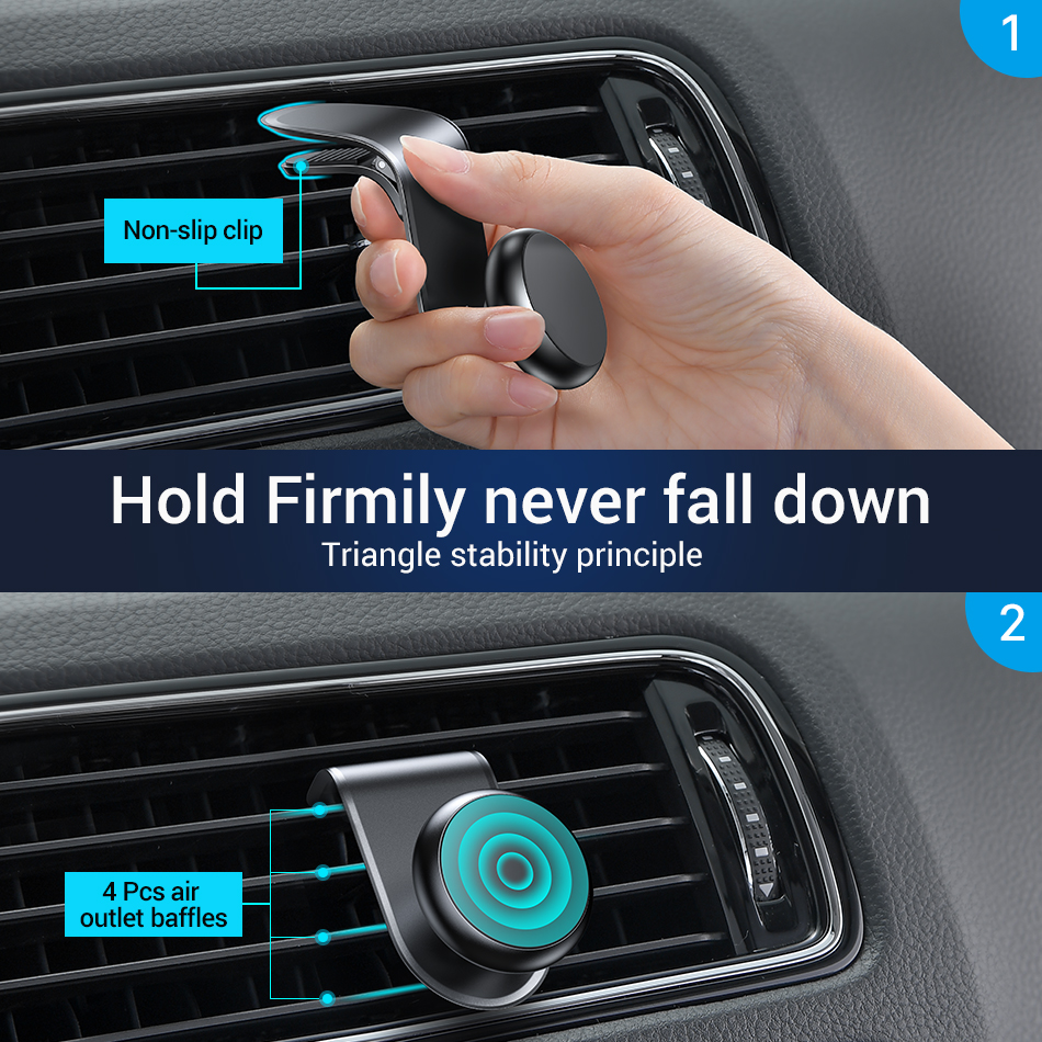 FIVI car Magnet Phone Holder Magnetic Car Phone Holder For Samsung S10 S9 S8 for iphone huawei xiaomi Car Mount in Phone Holders Stands from Cellphones Telecommunications