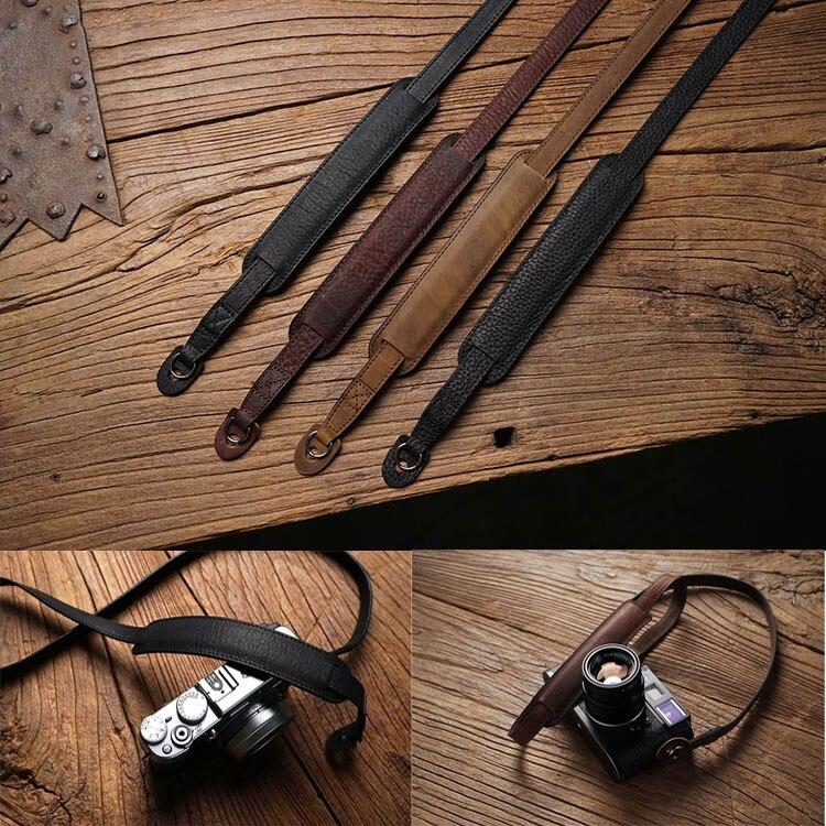 Handmade Genuine Leather Camera Strap Camera Shoulder Sling Belt For Canon Nikon Sony FUJI Fujifilm Leica Pentax