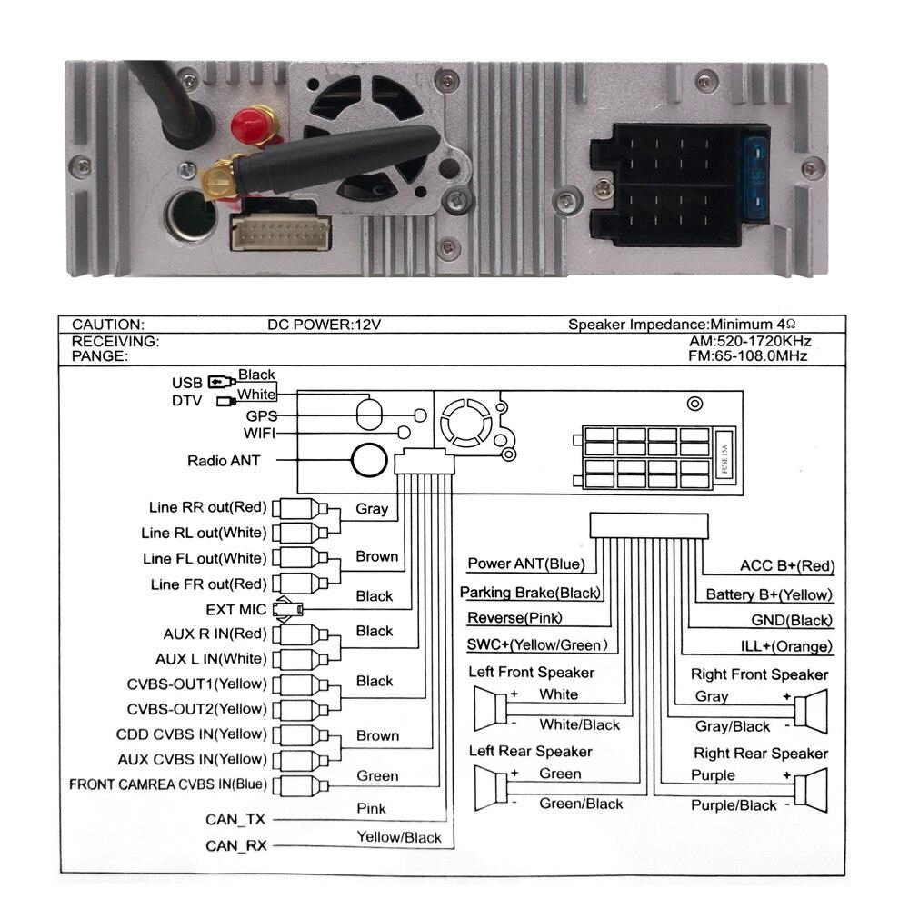 Android 9 1din Выдвижной Автомобильный Радио MP3 плеер 7 HD Универсальный автомобильный стерео радио плеер Bluetooth FM USB резервная камера мультимедиа - 3