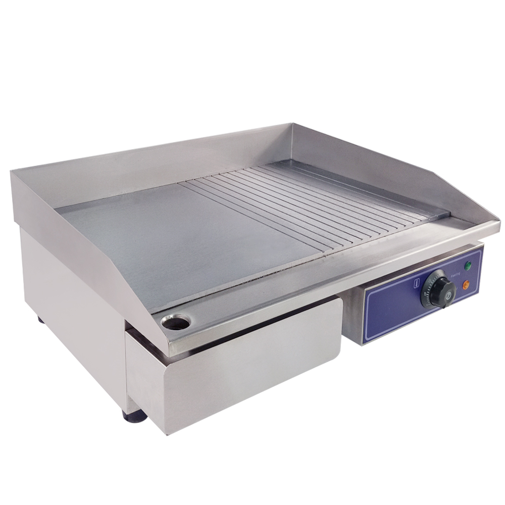 Best Price Half Flat Commercial Electric Griddle Hot Plate Countertop Grill Electric Grill Pan