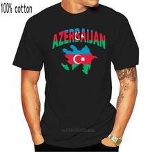 Camiseta de manga corta para hombre y mujer, camisa con estampado de bandera de Azerbayán, cuello redondo