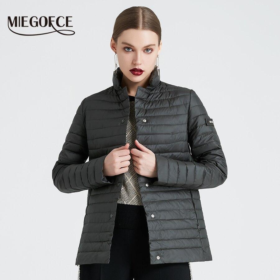MIEGOFCE 2019 nouvelle Collection printemps de veste élégant coupe-vent femmes Parka manteau femme printemps veste manteau femmes manteau matelassé