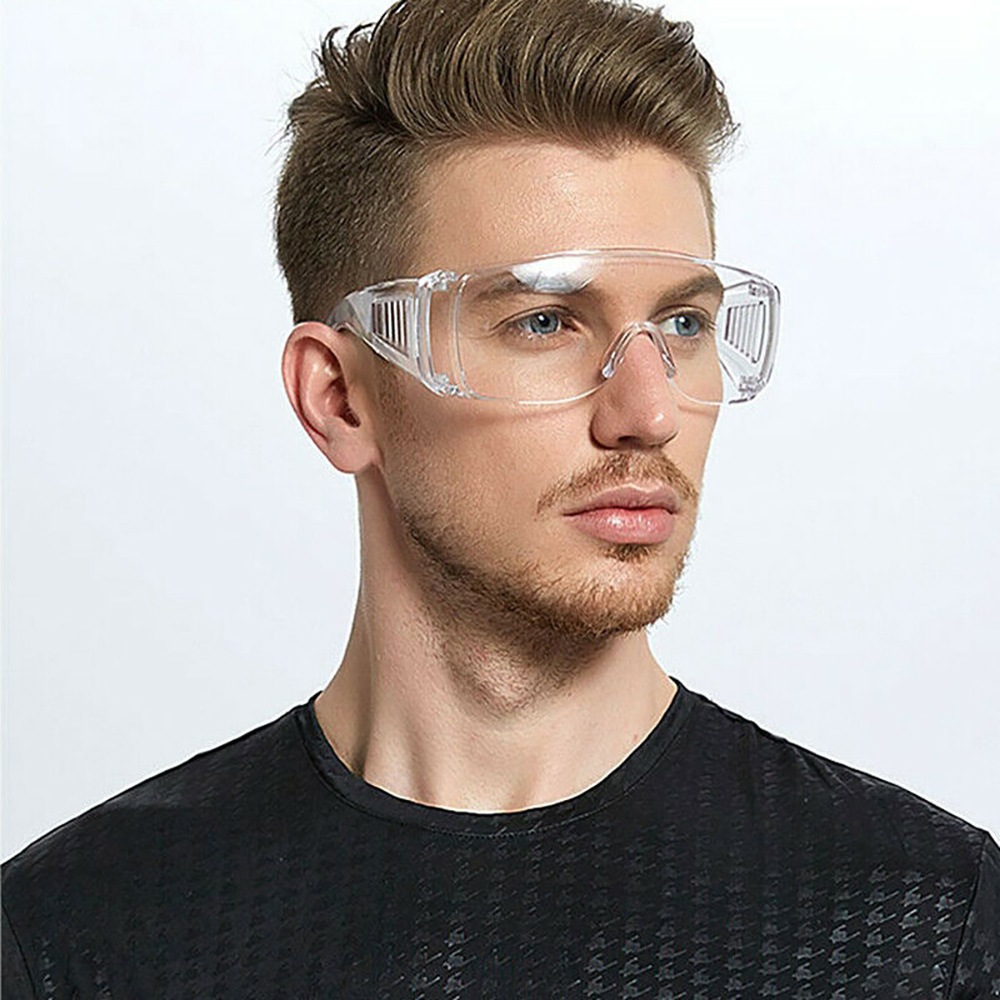 PC-Safety Glasses Eye Protection Anti-Dust&Shock Goggles Transparent Eyepiece Chemical Gafas Proteccion  Work Lab Eyewear D30