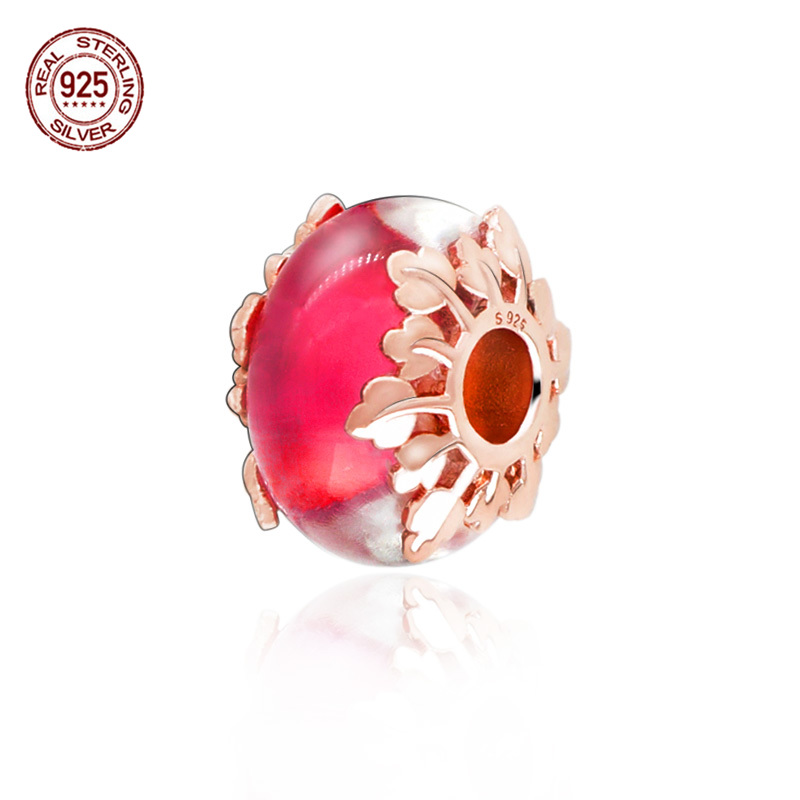 925 Sterling Silver Charms Fit Original Pandora Bracelets Necklaces Pink Murano Glass Charm Beads Bead Jewelry Women Girls Gift Buy At The Price Of 4 58 In Aliexpress Com Imall Com
