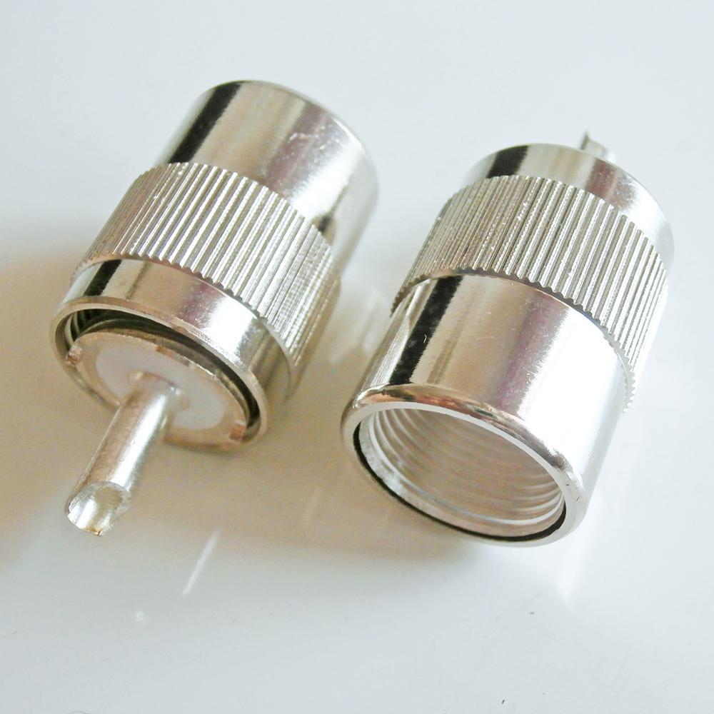 Conector soquete pl259 PL-259 so239 so-239 uhf macho solda copo para 8d-fb 8dfb cabo de bronze banhado a prata coaxial rf adaptador