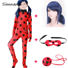 купить Lady Bug Cosplay Costume Adult Kids Disfraz Ladybug Costumes Jumpsuits Halloween Party Cosplay Clothing With Marinette Wig по цене 414.89 рублей