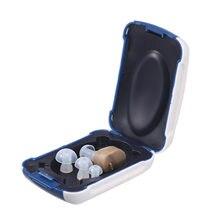 Novo melhor som in-ear amplificador de som super mini aparelhos auditivos dispositivo ajustável tom pessoal ferramentas de cuidados com a orelha alta qualidade