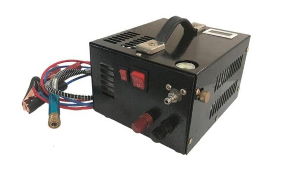 12V-220V PCP Air Compressor For Air Gun Inflatable,4500psi 300bar 30mpa 12 V PCP PUMP Automobile Compressor Car 220V Transformer