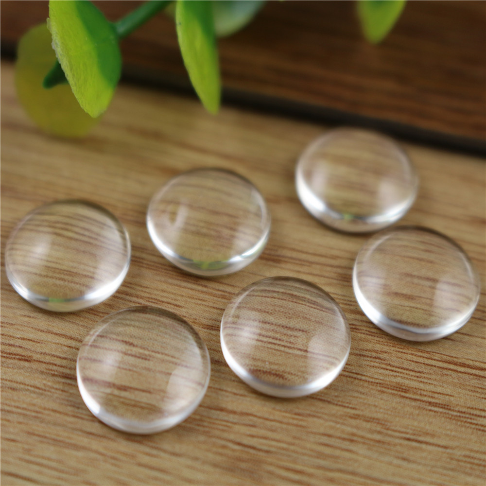 50pcs/lot 12mm Round Flat Back Clear Glass Cabochon, High Quality, Lose Money Promotion!!!(Z2-03)