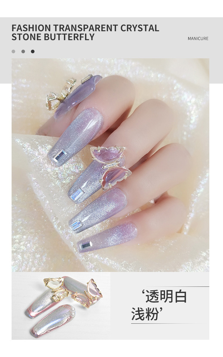 do prego zircão strass metal manicure jóias