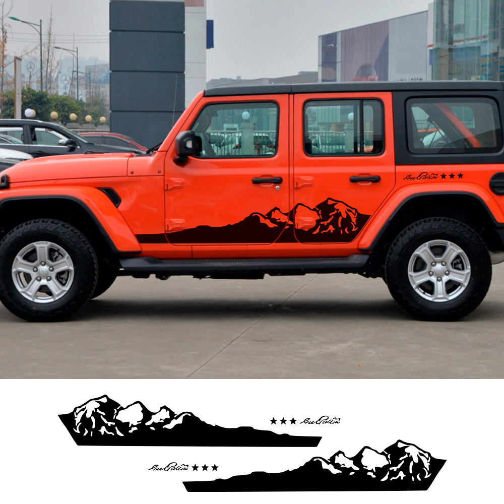Graphic Vinyl Off Road Sticker Window Decal For Jeep Compass Renegade Wrangler