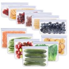 12 packs of BPA-free reusable storage bags (6 reusable sandwich bags, 6 reusable snack bags), extra-thick freezer bags with leak