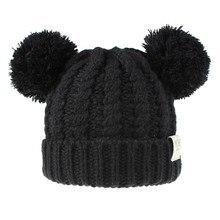 SAGACE/детская шапка для мальчиков и девочек; Теплая Зимняя Повседневная вязаная шерстяная шапочка; Лыжная шапка с помпоном; Акриловые толстые наушники; мягкая шапка; Лидер продаж