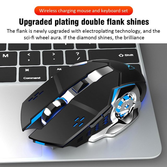 K680 Gaming keyboard and Mouse Wireless keyboard And Mouse Set LED Keyboard And Mouse Kit Combos 5