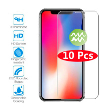 10Pcs Protective glass for iphone 11 11Pro Max screen protector on 7 8 plus