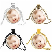 Handmade Personality Photo Family Photo Baby Child Dad Mom Brothers Sisters Grandparents Necklace Handmade Private Customized(China)