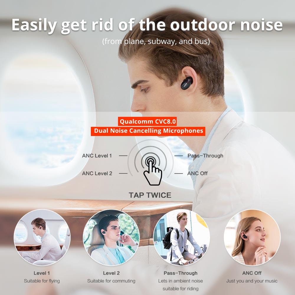 Big SaleÃ1MORE Bluetooth Earphones Drivers Hybrid Active-Noise Cancelling EHD9001TA Apt-X Aptx/aac