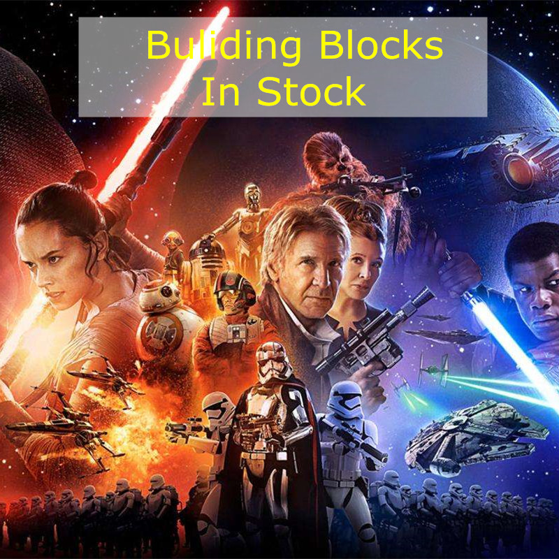 1pcs Star Wars The Last Jedi Yoda Obi-Wan Darth Vader Storm Building Block Starwars Gift Toy For Kid Briks Figures