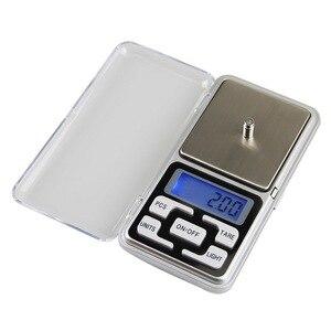 Электронные цифровые карманные весы 0,01 г, точные мини весы для ювелирных изделий с подсветкой для кухни 100/200/300/500 г