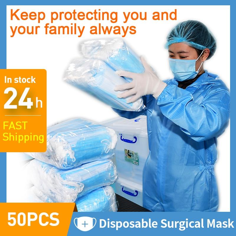 Disposable Medical Surgical Masks Surgical Earloop Mask Mouth Face Medical Masks Anti Droplet Airborne Transmission pollen dust|Medical Masks|   - AliExpress