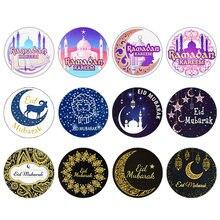 Pegatinas decorativas EID Mubarak, Decoración de Ramadán Eid al-fitr, Festival islámico musulmán, recuerdo de regalos, etiquetas Hajj Ramadán Kareem, 60/120 Uds.