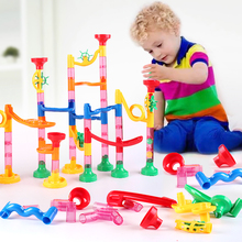 DIY Maze Balls Track Building Blocks Toys For Children Construction Marble Race Run Pipeline Block Educational Toy Game