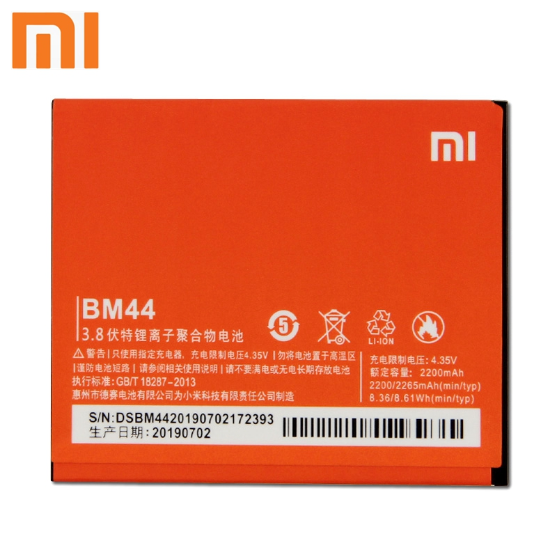 Xiao Mi <font><b>Xiaomi</b></font> BM44 Phone <font><b>Battery</b></font> For Xiao mi <font><b>Redmi</b></font> 2 Redmi2 <font><b>Redmi</b></font> <font><b>1S</b></font> <font><b>Redmi</b></font> 2A Redmi2A 2265mAh <font><b>Original</b></font> Replacement <font><b>Battery</b></font> image