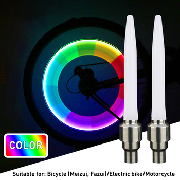HOT 2Pcs Bicycle Lights Valve Stem LED CAP For Bike Bicycle Car Motorcycle Wheel Tire Light Lamp Bicycle Accessories image